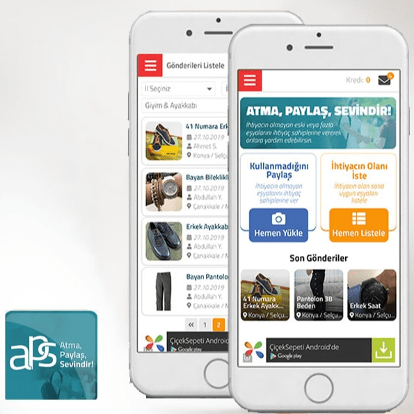 Atma Paylaş Sevindir Mobile Application